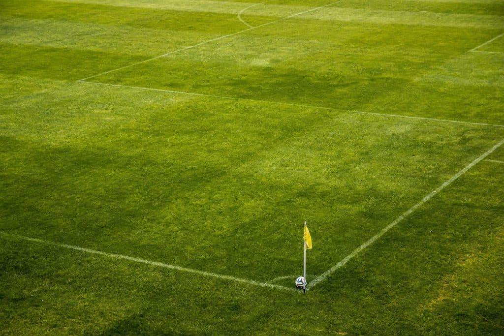 Soccer field's out of bounds line