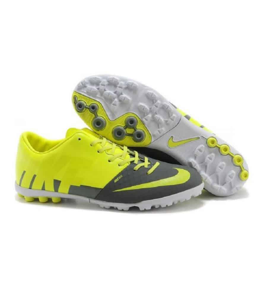 Yellow and black Nike shoe