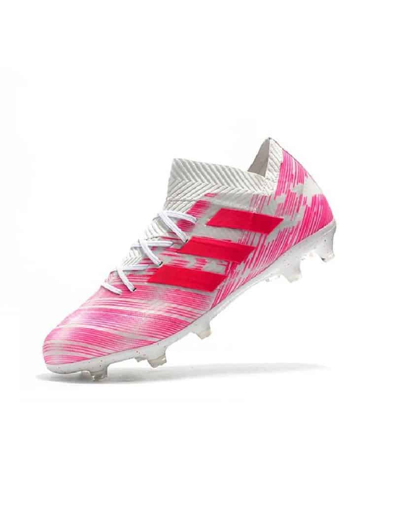 Pink Adidas soccer cleats