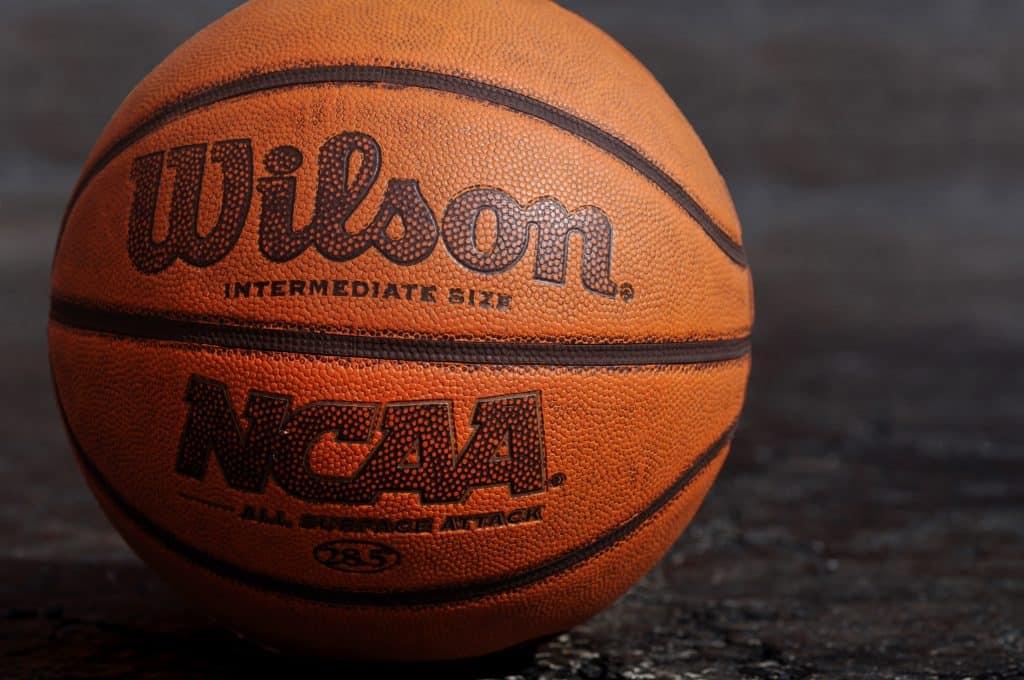 Close up of a Wilson basketball