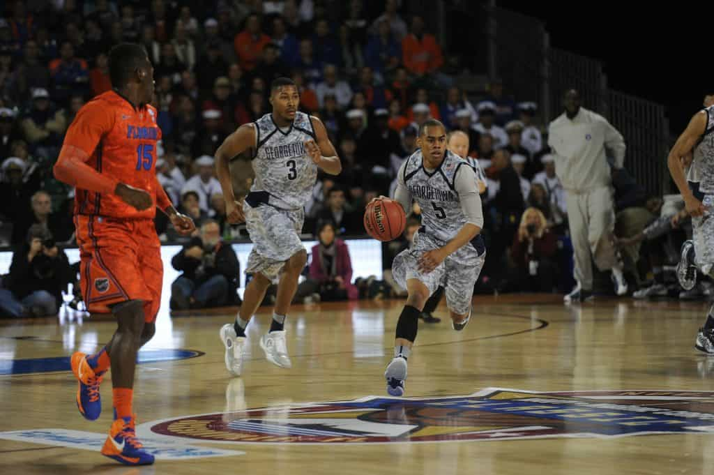 Basketball game between the Georgetown Hoyas and the Florida Gators