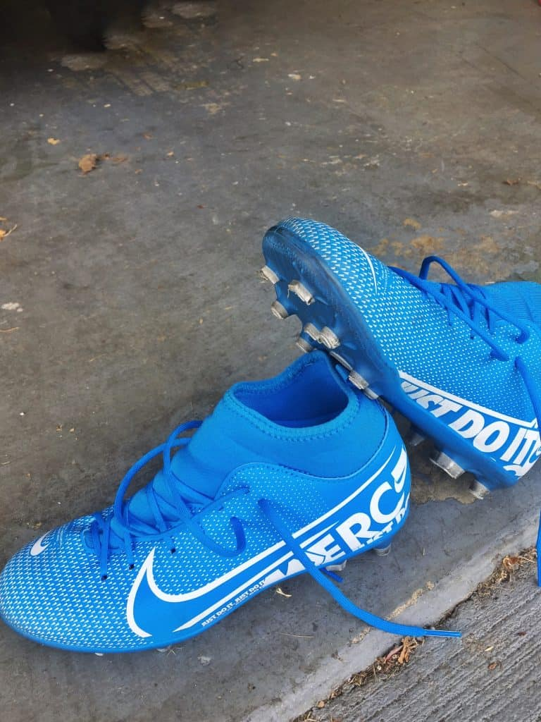 Featuring the insoles and outsoles of the Nike mercurial soccer cleats