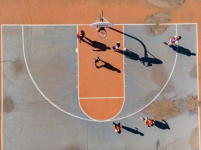An ongoing basketball match