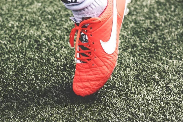 A soccer cleat