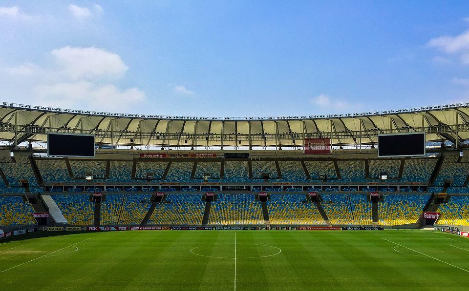 Soccer stadium in daytime