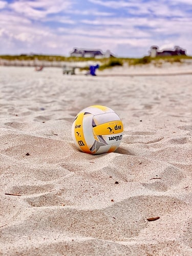 Volleyball ball on the beach