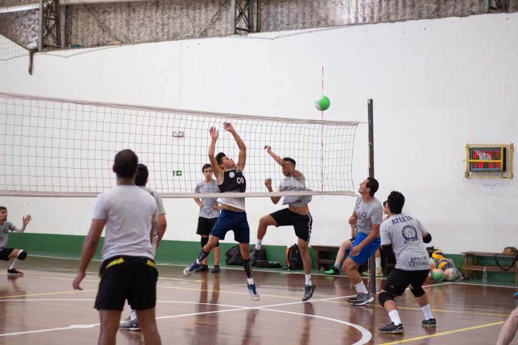 Ongoing volleyball game