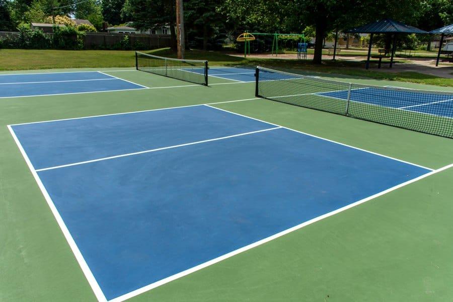 Pickleball court at an outdoor park