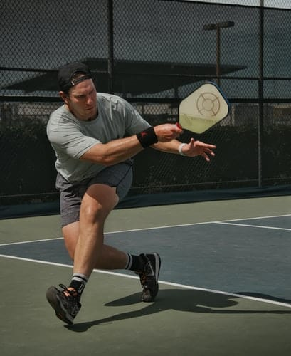 Man playing pickleball